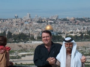 Moti and freind at Mt. of Olives