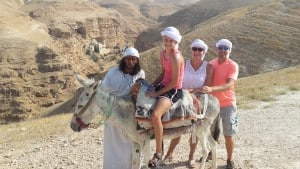 St. George donkey ride  with Fadi the Bedouin