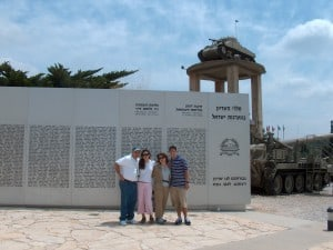 The first Tank of Israel next to the memorial wall at Latrun Tank museum