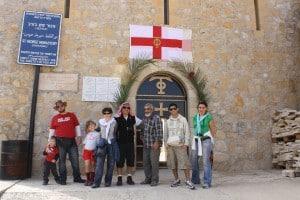 Saint George monastery entrance from Wadi Qelt